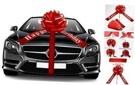 Happy Birthday Car Bow Large Car Ribbon Bow Wrapping Bow Decorative 20 I... - $24.34