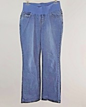 Old Navy Maternity Size Small Stretch Blue Jeans 5 Pocket Boot Cut 26x29 - $12.00