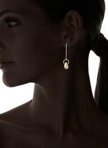 Cristina V USA Fabriqué 18K Jaune Plaqué Or Simple Briolette Goutte Boucles image 2