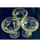 """Hershey's 6"""" old fashion vintage Ice cream Sundae glasses set of 3 - $29.69"""