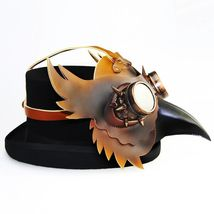 Reenactment Plague Doctor Steampunk Bird Leather Mask Halloween Gothic Cosplay image 5