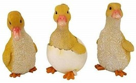 "Three Yellow Ducklings 5"" High Made of Resin - £34.53 GBP"