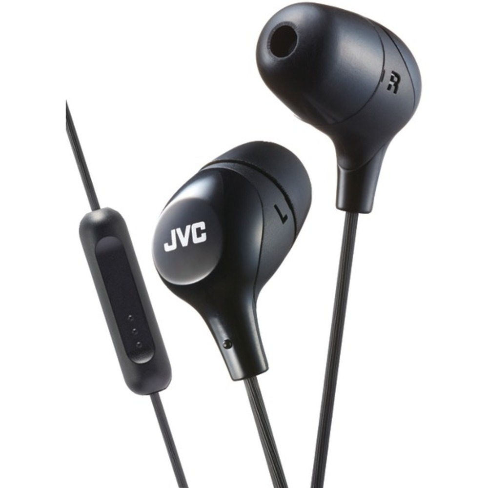 JVC HAFX38MB Marshmallow Inner-Ear Headphones with Microphone (Black)