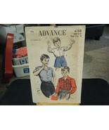 Vintage Advance 4188 Boy's Shirts Pattern - Size 8-10 Neck 11 1/2-12 - $8.90