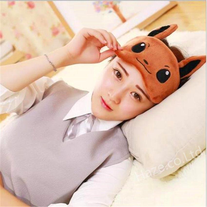 Pokemon Soft  Eye Mask Travel Nap Rest Sleep Blindfold Eye Cover Pikachu Snorlax