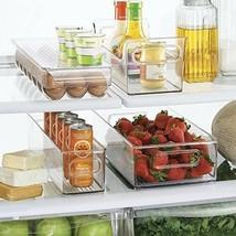 Freezer Storage Organizer Bins Containers Holder Refrigerator Food Clear... - $59.02
