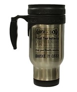 Advice From A Dog 12 Oz Stainless Steel Hot/Cold Travel Mug - $16.78