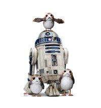 Porgs R2-D2 R2D2 Star Wars Last Jedi Movie Cardboard Standup Standee Cutout 2624 - $39.95