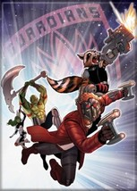 Guardians of the Galaxy Team Leaping In Space Art Image Refrigerator Mag... - $3.99