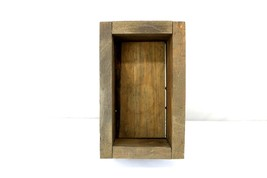 Handmade Rustic Wooden Planter Box Rectangle - $10.00