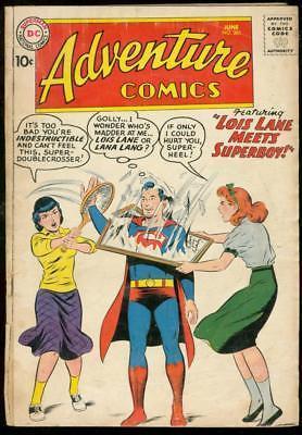 ADVENTURE COMICS #261 1959-DC COMICS-SUPERBOY AQUAMAN G+