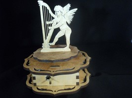 Music Box-Cupid playing the Harp - $40.00