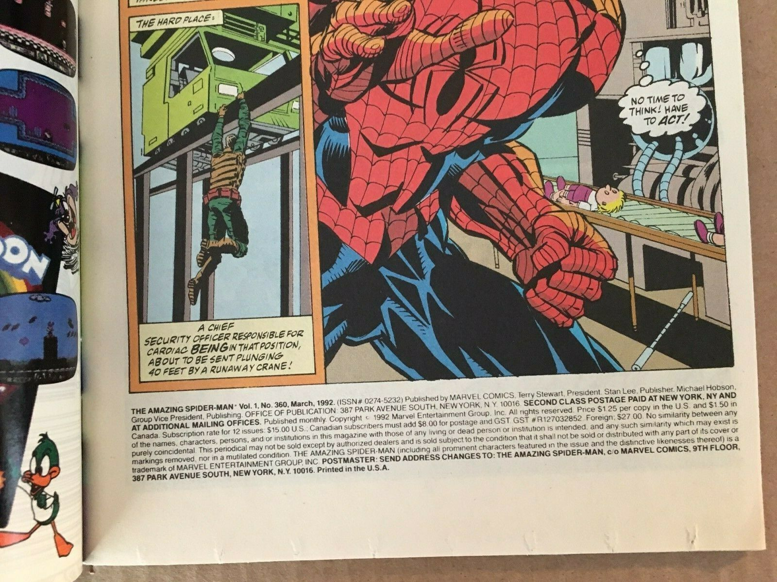 Amazing Spider-Man #360 Marvel Comic Book FN+ Condition 1st Carnage 1992 image 4