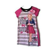 Nickelodeon JoJo Siwa Girls Size 8 Pajama Dress PJs Sleepwear - $13.98