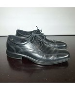 ECCO Mens 42/ 8-8.5 US Black Leather lace-up Casual Comfort Dress Shoes  - $18.81