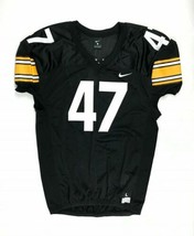 New Nike Iowa Hawkeyes Stock Vapor Pro Football Jersey Men's L #47 Black... - $49.49