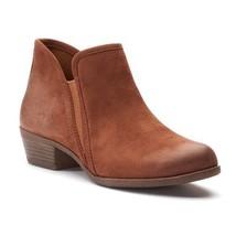 Women's SO® Meme Block Heel Ankle Boots Size 7 Chestnut BRAND NEW - $42.06