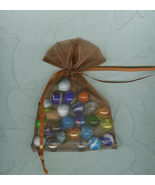 25 Assorted US Made Glass Marbles 1997 In Organ... - $6.00