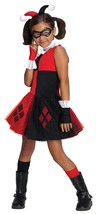 DC Super Villain Collection Harley Quinn Girl's Costume with Tutu Dress,... - $26.02