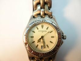 Wittnauer Longines 200M Date At 6 Quartz Vintage Watch Runs For Restoration - $174.15