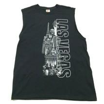 NEW Las VEGAS Sleeveless Shirt Black Tank Top City Of Sin Tee Loose Fit ... - $17.83
