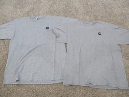 Cummins Logo short sleeve FTL Cotton T Shirts, 2pk, Men, Grey, L, JEP EEEC - $4.95