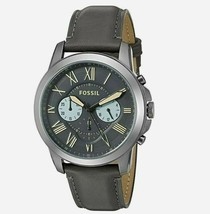 New Fossil Men's Grant Chronograph Leather Band Watches Variety Color - $84.47