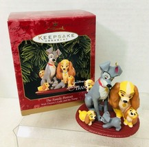 1999 Family Portrait Lady and The  Tramp Hallmark Christmas Tree Ornamen... - $34.16