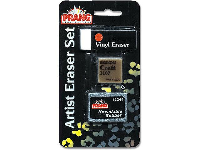 PRANG Artist Eraser Set, 3 Set (Kraft, Vinyl & Kneaded) #90840