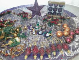 Mardi Gras Christmas Tree Masks Horns Decorations 65 Ornaments Skirt Pur... - $59.39
