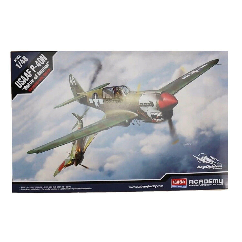 Academy 12341 USAAF P-40N Battle of Imphal Plastic Hobby Model Kit 1:48 Scale