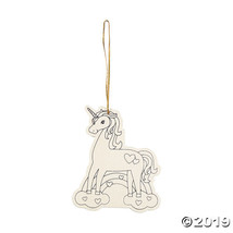Color Your Own Valentine Unicorn Ornaments - $10.45