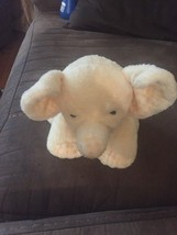 "Ty Pluffies P'Nut Pnut Yellow Elephant 10"" Plush Stuffed Animal Baby Lovey 2007 - $18.65"