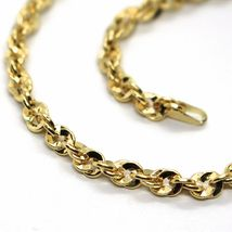 18K YELLOW GOLD ROPE CHAIN, 19.7 INCHES BRAIDED INFINITE FACETED ALTERNATE LINK image 3