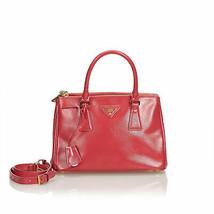 Authentic Prada Red Saffiano Galleria Satchel Italy - $951.54