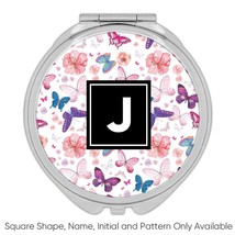 Whimsical Butterflies : Gift Compact Mirror Colors Types Shapes Watercol... - $12.99+