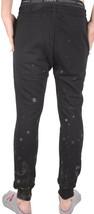 Dope Schwarz Grau Farbverlauf Splatter Skinny Vlies Jogginghose Jogging Hose Nwt image 2