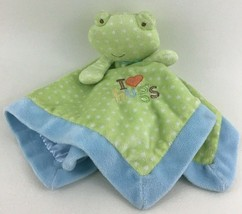 Carter's Just One Year Baby Security Blanket Rattle Frog Dots I Love Hug... - $18.76