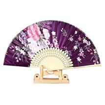 "Panda Superstore Folding Fans for Women Colorful Pattern 8.27""(21cm) Holding Pai"