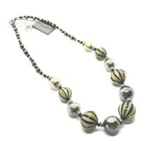 Necklace Antica Murrina Venezia with Murano Glass Gray Military Green COA3A32 image 2