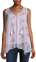 Liz Claiborne Paisley Hanky Hem Tunic Size XL New - $14.99