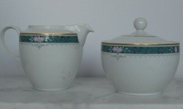 Christopher Stewart Somerset Creamer and Sugar Bowl with Lid Y0207 Repla... - $16.82