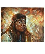 Senza Titolo (Native Amer. Donna Con / Fascia) Di Anthony Sidoni Firmato... - $10,924.53