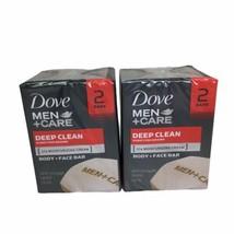 Dove Men+Care Men's Bar Soap Deep Clean 3.75 oz 4 Bars - $23.22
