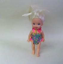 1994 Vintage Barbie Walking Kelly Doll in Bathing Suit - $18.69