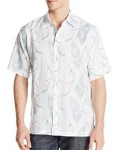 Cubavera Men's Short Sleeve Linen Leaf Print Shirt MSRP $75.00 - $32.71