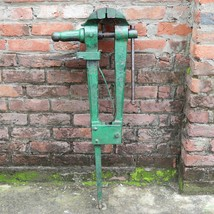 "Rare Vintage 41 inch Long Weight 97 Pounds Post Leg Stump Vise 5 "" Jaws - $475.00"