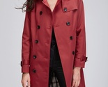 New red double breasted classy women trench coat spring autumn fall plus size - $69.52