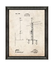 Shortwave Antenna Patent Print Old Look with Black Wood Frame - $24.95+