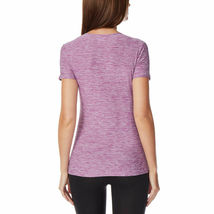32 Degrees Women's 2Pk Short Sleeve Scoop Neck T-Shirt Orchid/Black Size: Small image 5